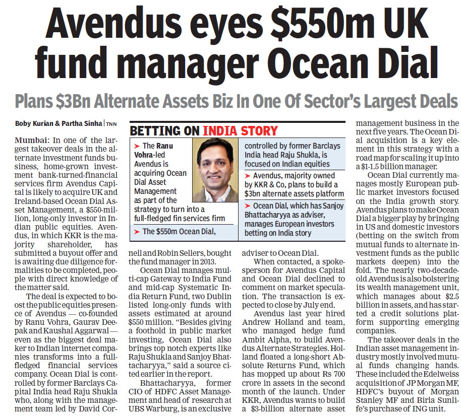 98671e284b2 Avendus Capital s likely acquisition of UK fund manager Ocean Dial Asset  Management. The report termed it as one of the largest takeover deals in  the ...