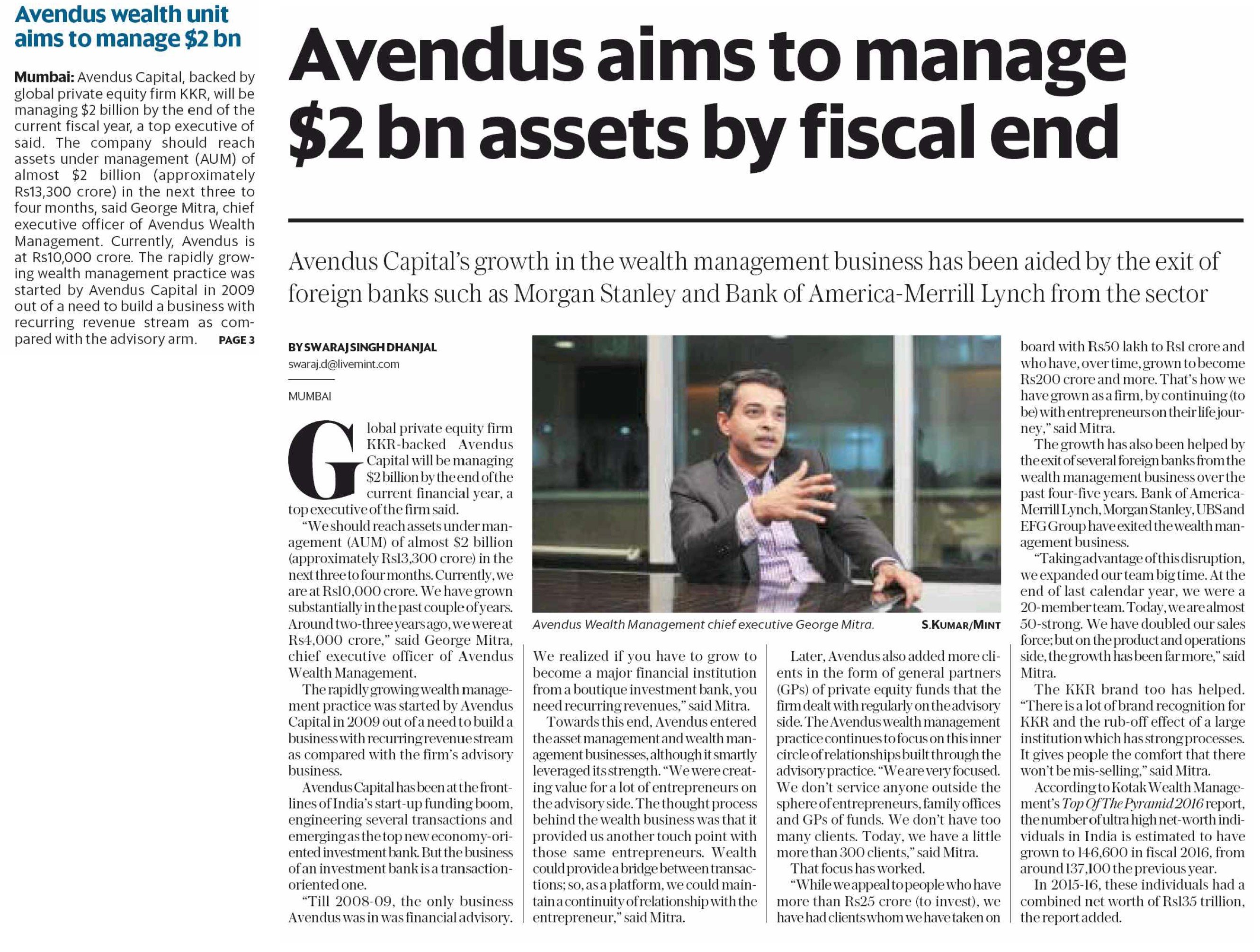 News and Media Releases - Avendus